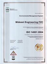 ISO 14001:2004 | Mideast Engineering FZC