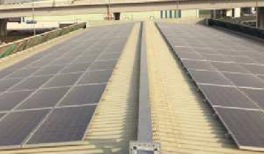 Roof Top Panels for Warehouse
